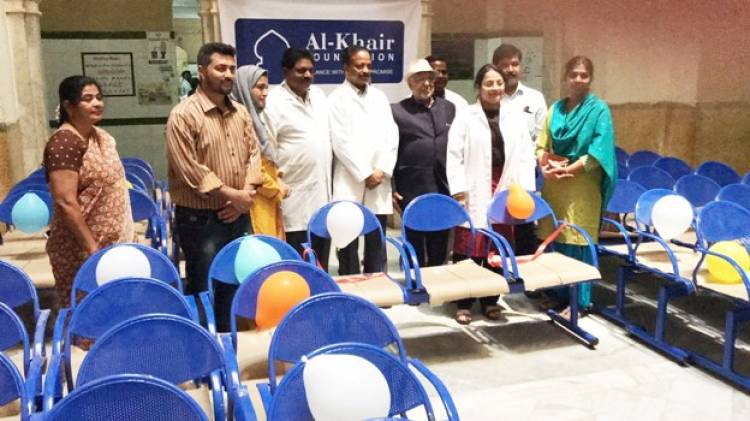 OMC Alma Mater which is part of an NGO donates 50 three-seater iron Benches to Osmania