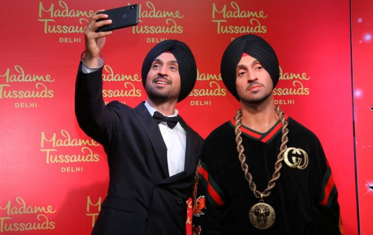 Diljit Dosanjh figure unveiling at Madame Tussauds Delhi