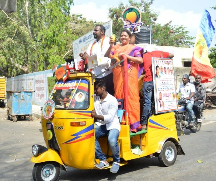 PMK Central Chennai candidate Dr. Sam Paul Campaigns at Chintadripet