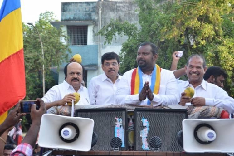 PMK Central Chennai candidate Dr. Sam Paul at Villivakkam