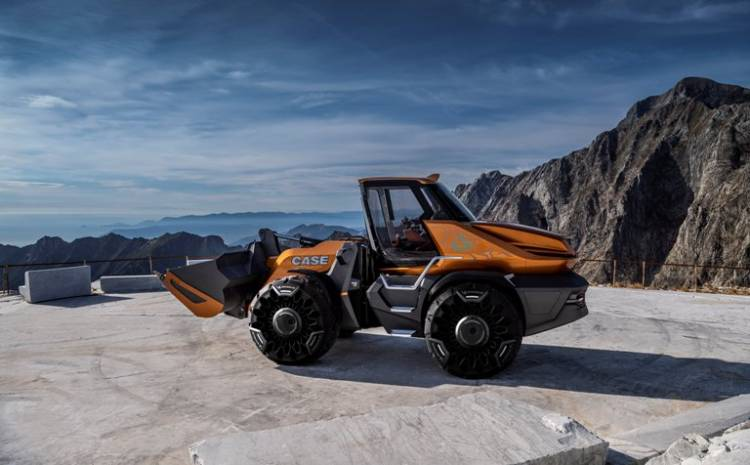 CASE Construction Equipment unveils methane-powered wheel loader concept - Project TETRA