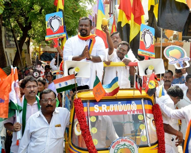 PMK Central Chennai Candidate Dr Sam Paul campaigned at Purasawalkam and Chetpet