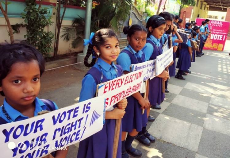 Voters Awareness Campaign Held at Velammal