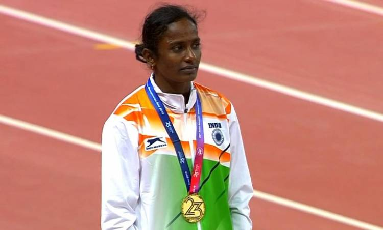 Gomathi Marimuthu from Tamil Nadu won first gold medal for India