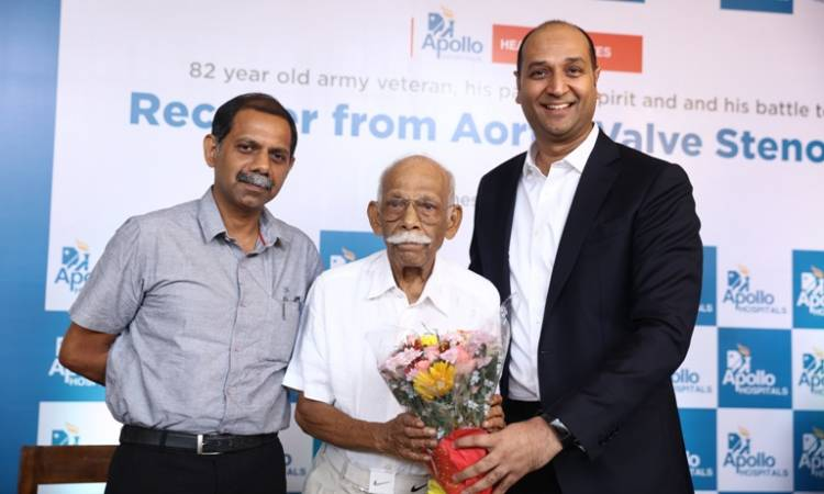 Apollo Hospitals Chennai Gifting a new lease of life to a 82 year-old EX Army Major General