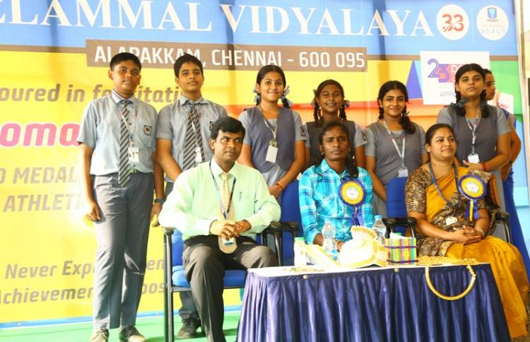 Asian Athletic Gold Medalist Felicitated at Velammal