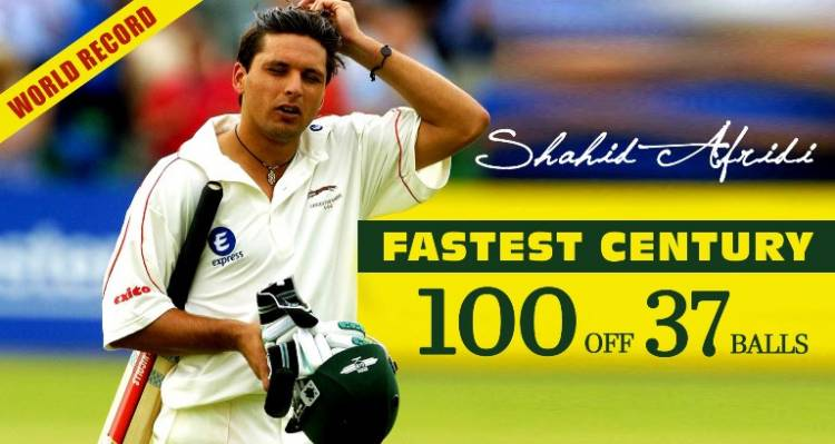 Shahid Afridi was not 16 when he smacked 37-ball 100