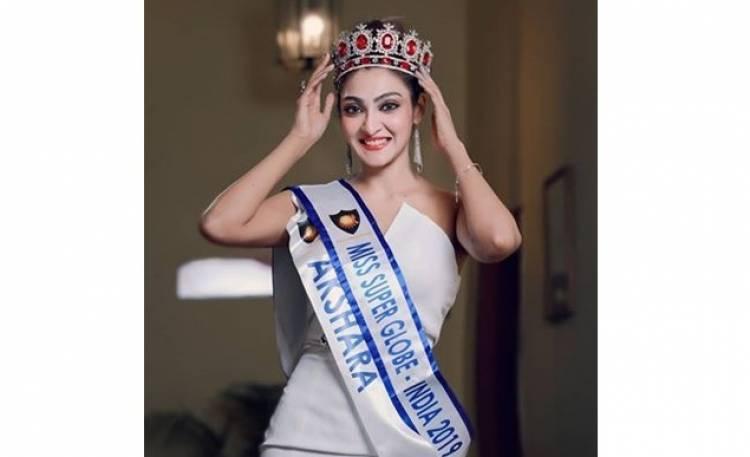 மிஸ் சூப்பர் குலோப் இந்தியா பட்டத்தை வென்ற சென்னை பெண்