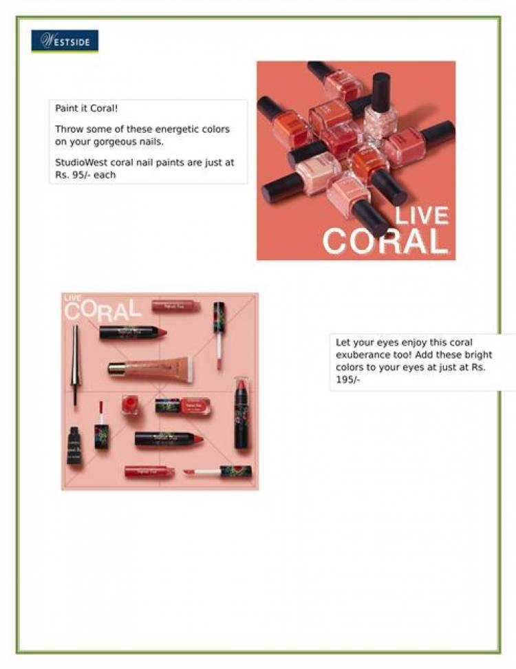 Bring in summers with Studio West's fresh Live Coral Collection