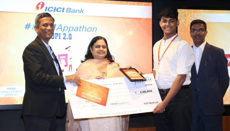 "Chennai based Rishabh Singh, second runner up of ""ICICI Appathon 2019"""