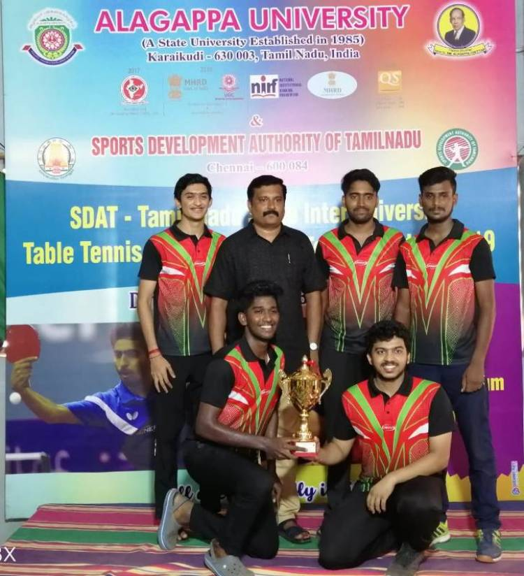 SRM Table Tennis Men Team won Tamil Nadu Inter University Table Tennis Tournament