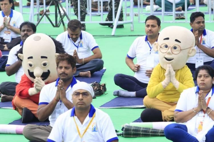 """""""Yoga Se Hi Hoga"""" says Nicktoons Motu Patlu, Shiva and Rudra on International Yoga"""