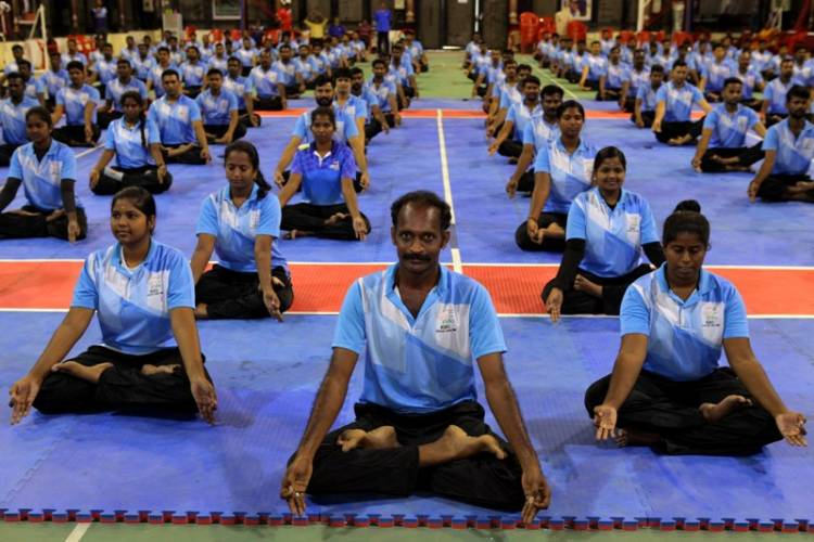 SRMIST Celebrated 5th International Yoga Day