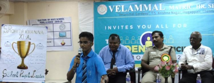 Student's Council Election Held at Velammal