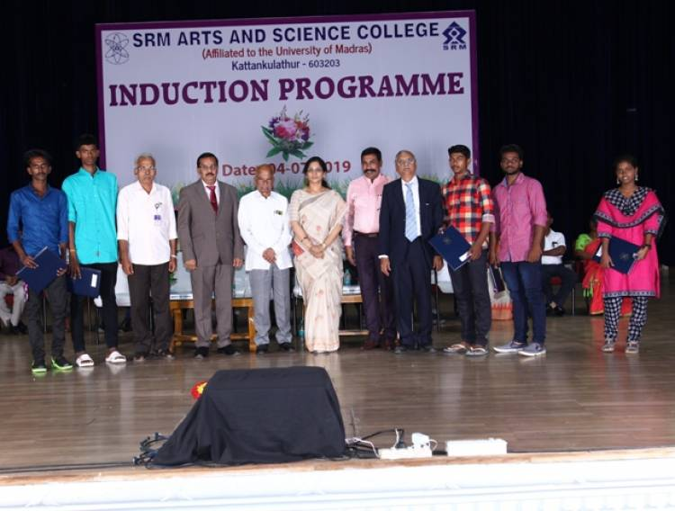 SRM Arts and Science College conducted Induction day