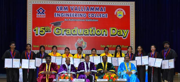 15th Graduation Day in SRM Valliammai Engineering College