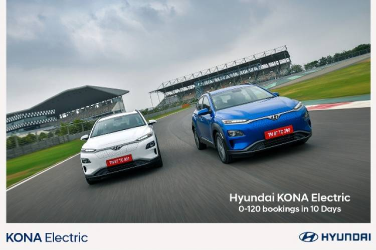 Hyundai KONA Electric Strikes First Century in India  (0-120 in Just 10 Days)