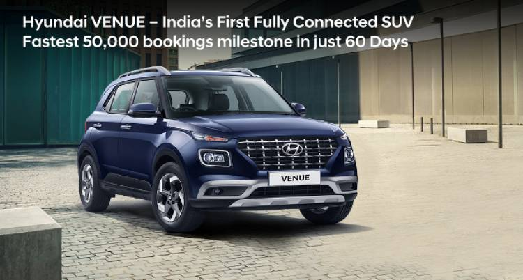Hyundai VENUE – India's First Fully Connected SUV
