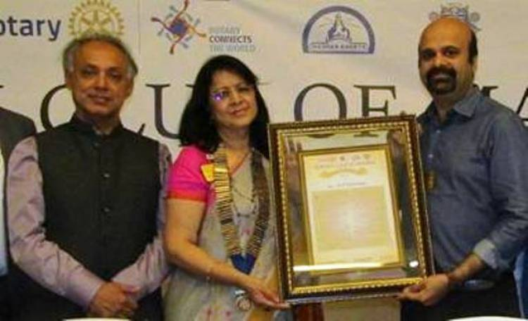 Anil Srinivasan presented the Educator Extraordinaire Award 19-20