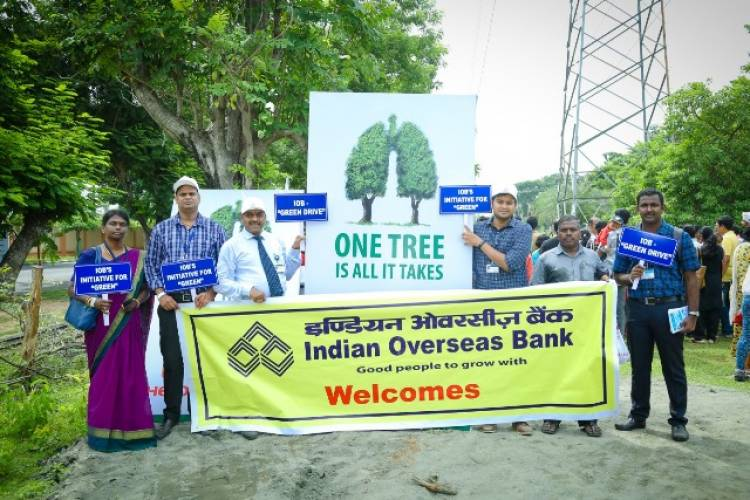 IOB employees participated in urban afforestation drive at Mahindra World City
