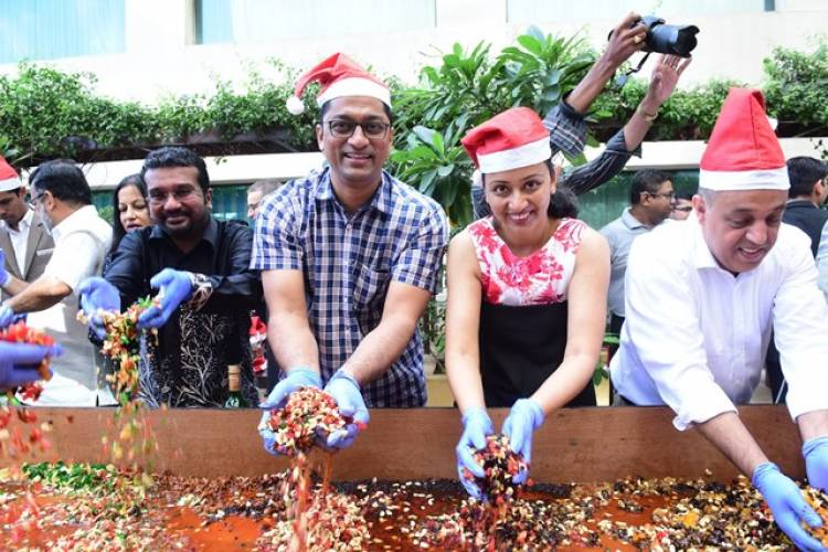 Courtyard by Marriott hosted their Christmas Cake Mixing Ceremony on 3rd November 2019