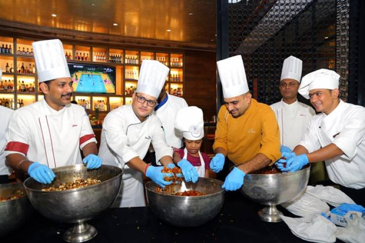 Cake Mixing at Park Hyatt Chennai