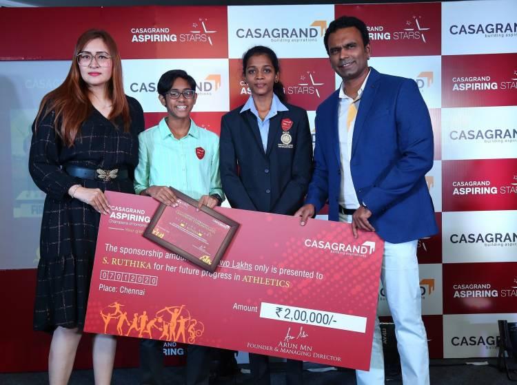 CASAGRAND Aspiring Stars Program Felicitates Three Young Sports Champions