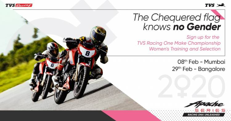 TVS Racing invites aspiring women racers for training and selection of 2020 edition of TVS Women's One Make Championship