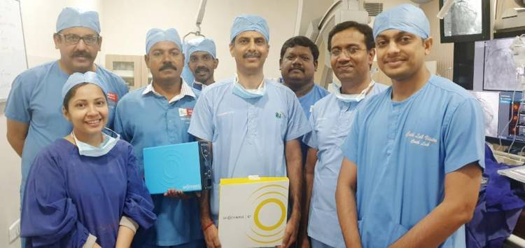 Apollo Performs India's first Rotashock using Shockwave Lithoplasty