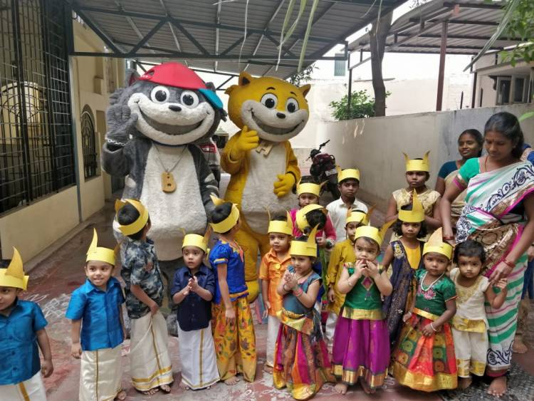 Super Toons Honey &Bunny say Vanakkam to all the Super kids of Chennai