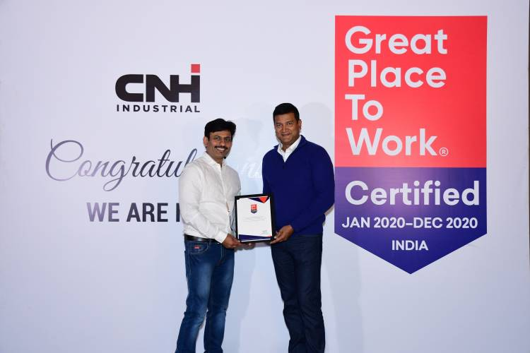 CNH Industrial India certified as a 2020 Great Place to Work