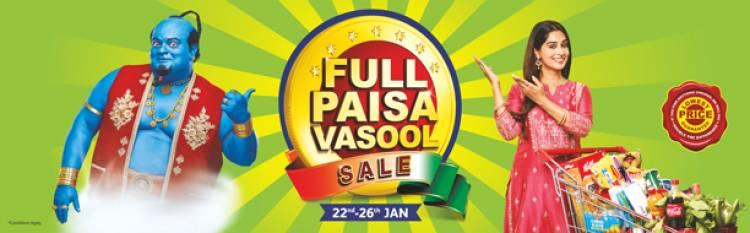 The Full Paisa Vasool Sale by Reliance Fresh & Smart is back