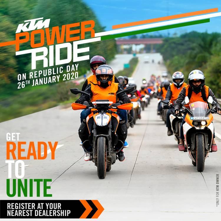 KTM announces the KTM Power Ride on Republic Day