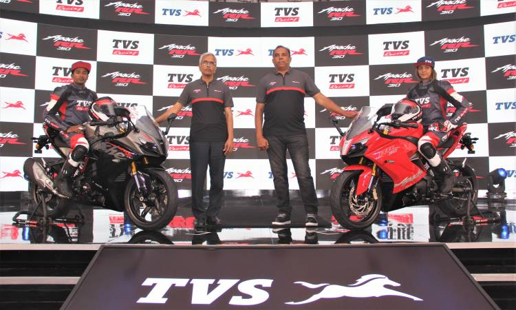 TVS Motor Company to Launch the TVS Apache RR310 BS-VI 2020 motorcycle