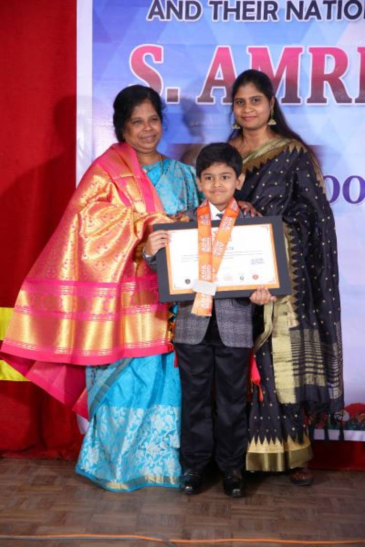 "A Six years old Alpha CBSE school student creates new record under ""One minute challenge"""