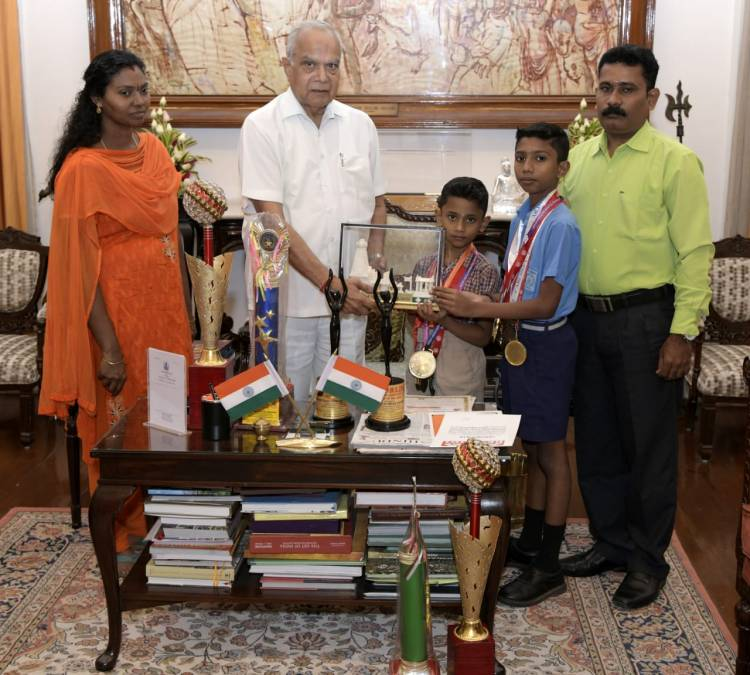 VELAMMAL'S YOGA CHAMPIONS WERE  HONOURED BY THE  GOVERNOR  OF TAMIL NADU