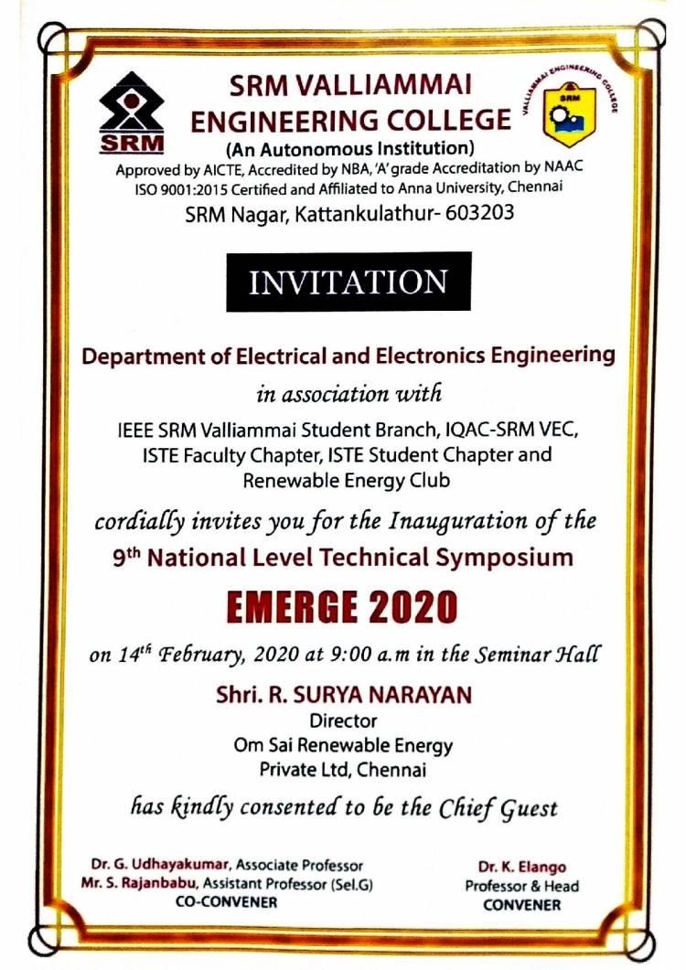9th National Level Technical Symposium