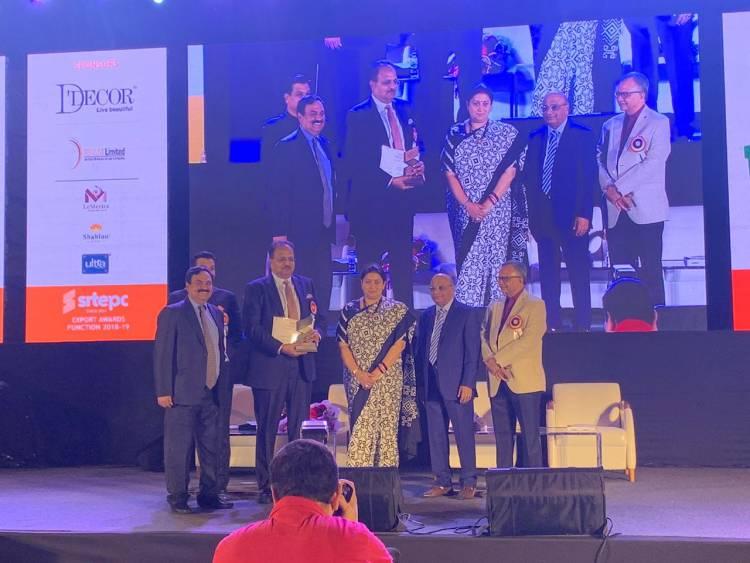 Filatex bags prestigious 'Bronze Award' at SRTEPC Export Awards