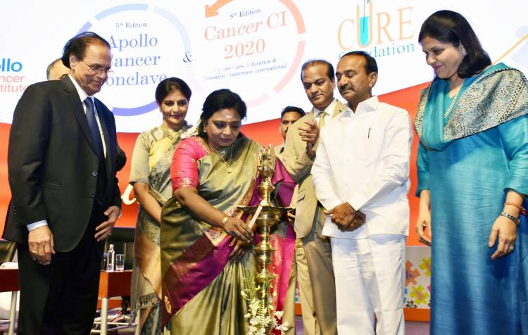 Hon'ble Governor Dr (Smt) Tamilisai Soundararajan, inaugurates the Apollo Cancer Conclave!