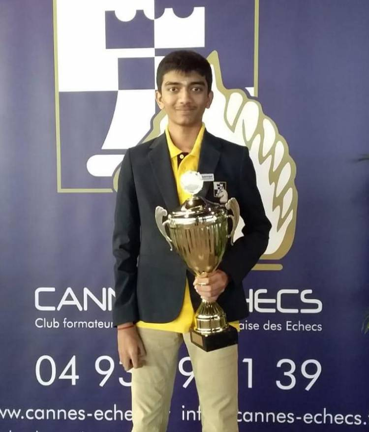 VELAMMAL'S CHILD PRODIGY WINS TITLE AT CANNES OPEN CHESS TOURNEY