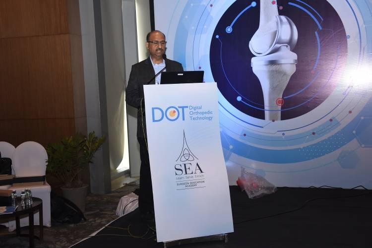 Live Knee Surgery using KNE3WIZ technology at Digital Orthopedic Technology (DOT 2020)