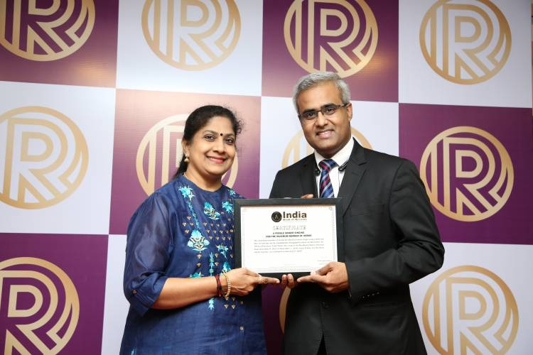 Singer Jayalakshmi Rajagopalan inducted in the India Book of Records