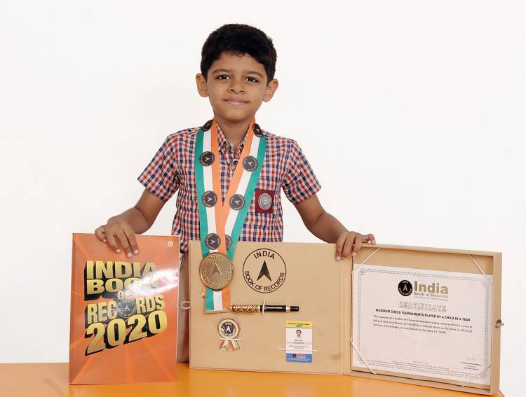 VELAMMAL'S CHILD PRODIGY SETS RECORD IN CHESS