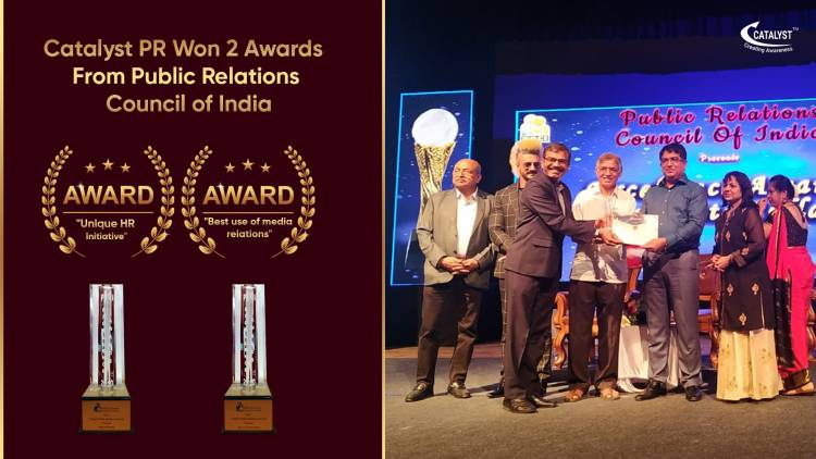 Catalyst PR bags Two All India Awards at PRCI's 14th Global Communication Conclave
