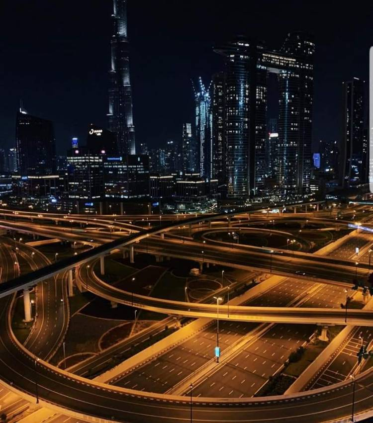 No police, No Military, No Media just an order, that is  Dubai