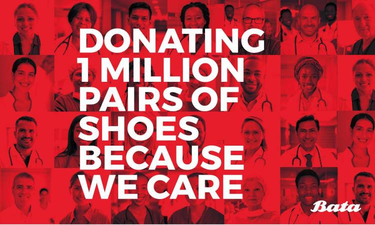 Bata donates 1 million pairs of shoes to health care workers, volunteers and their families