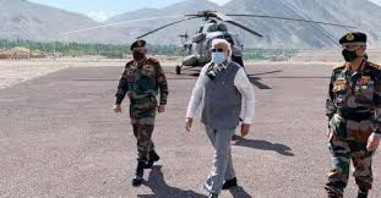 PM reaches Ladakh on surprise visit, interacts with troops