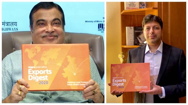 Hon'ble Union Minister, Shri Nitin Gadkari unveils Amazon's Exports Digest 2020
