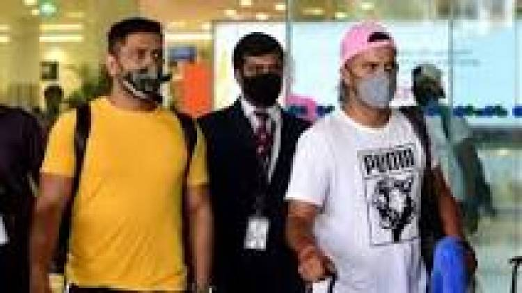 Dhoni, other CSK players arrive in Chennai for camp ahead of IPL