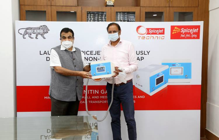 SpiceJet introduces ingeniously developed, non-invasive, portable ventilators in its fight against COVID-19